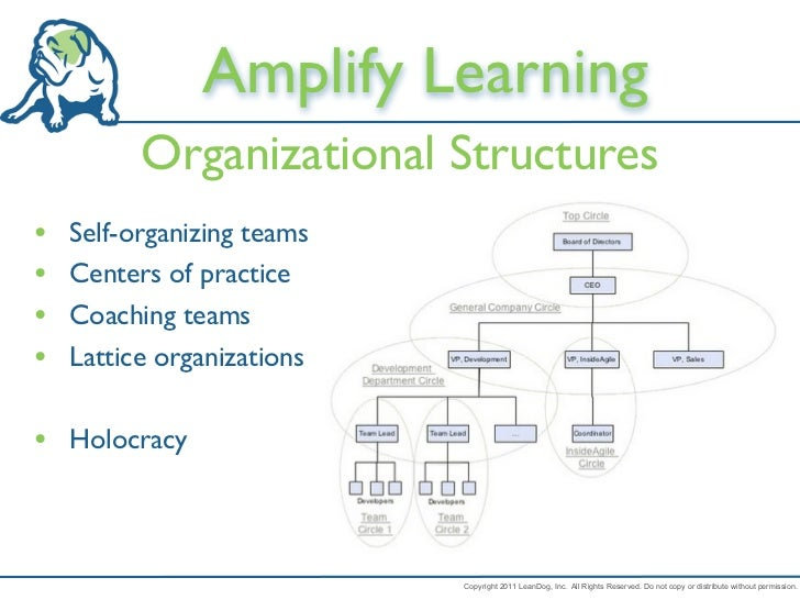 Amplify Learning          Organizational Structures•   Self-organizing teams•   Centers of practice•   Coaching teams•   L...