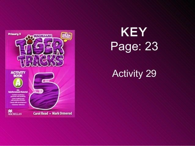 KEY Page: 23 Activity 29