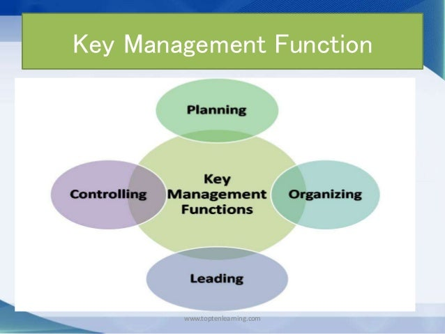 4 fuctions of management Free essay: in order to be a good and effective manager one must possess four basic characteristics he or she must be able to plan, be organized, have good.