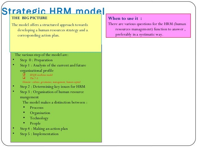 Tactical Model  The 7-S framework  Activity-based costing  Beer and Nohria – E and O theories  Benchmarking  Business...
