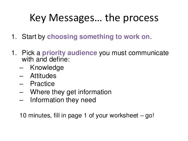 Key messages elevator pitch