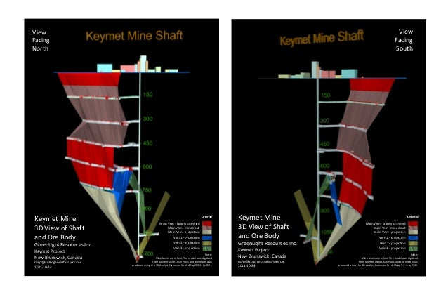 Keymet Mine3D View of Shaftand Ore BodyGreenLight Resources Inc.Keymet ProjectNew Brunswick, Canada2011-10-24map@lantic ge...