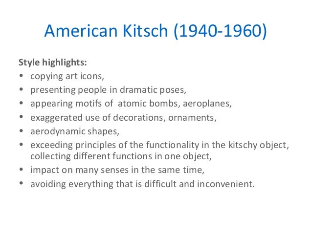 American Kitsch (1940,1960); 34.