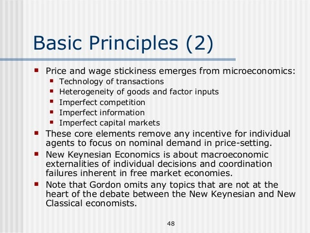 the basic principles of the keynesian economics Post-keynesians principles and their theories of prices, firm,  article is an over view of the main contributions of post-keynesian economics, as.