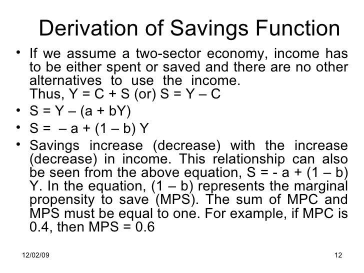 saving function formula