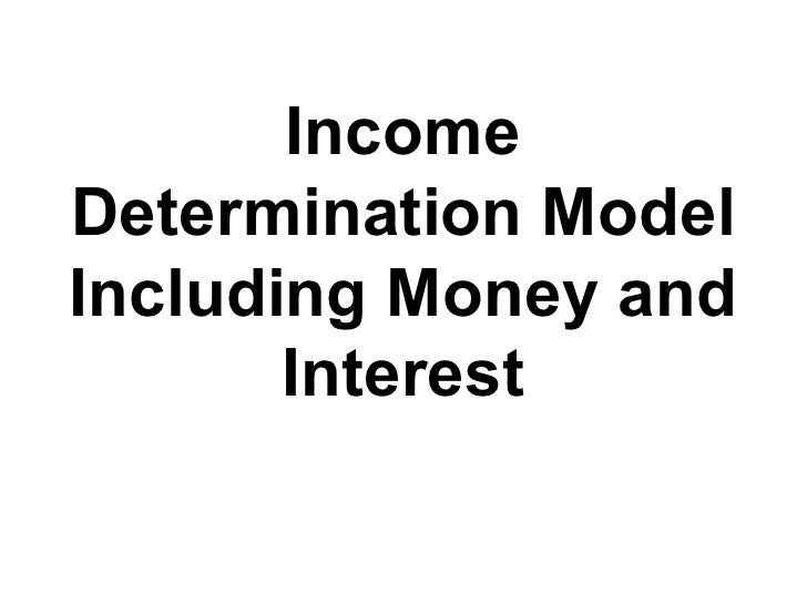 Income Determination Model Including Money and Interest