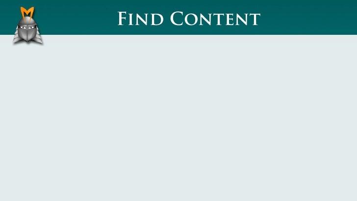 Find Content