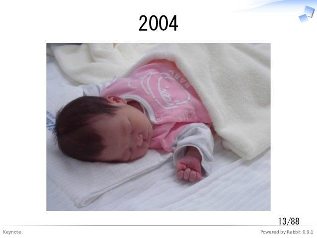 Keynote Powered by Rabbit 0.9.1 2004 13/88