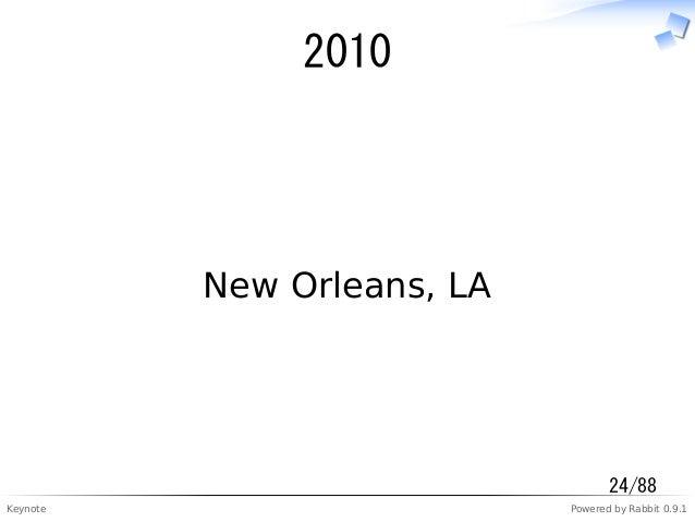 Keynote Powered by Rabbit 0.9.1 2010 New Orleans, LA 24/88