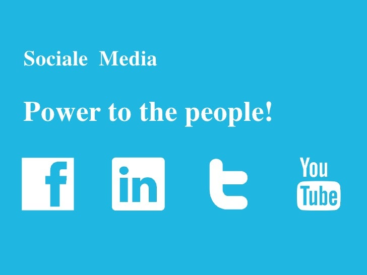 Sociale MediaPower to the people!