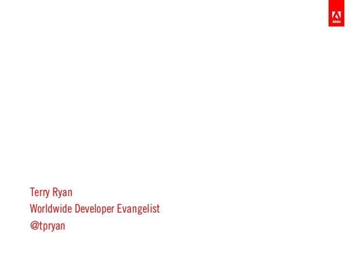 cf.Objective ANZKeynoteTerry RyanWorldwide Developer Evangelist@tpryan