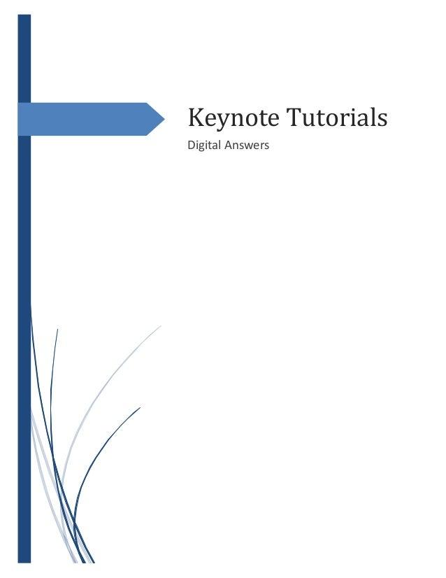Keynote Tutorials Digital Answers