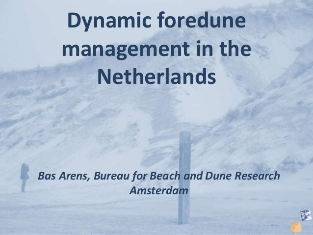 Bas Arens, Bureau for Beach and Dune Research Amsterdam Dynamic foredune management in the Netherlands
