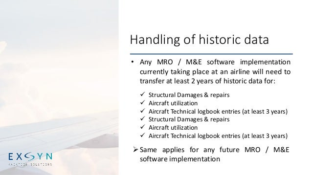 Keynote: EASA regulation changes and the impact on MRO software