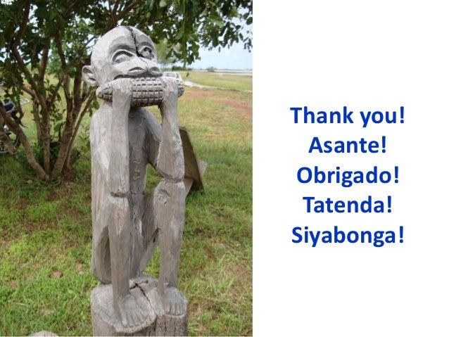 Thank you!Asante!Obrigado!Tatenda!Siyabonga!
