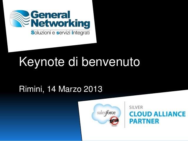 Keynote di benvenutoRimini, 14 Marzo 2013