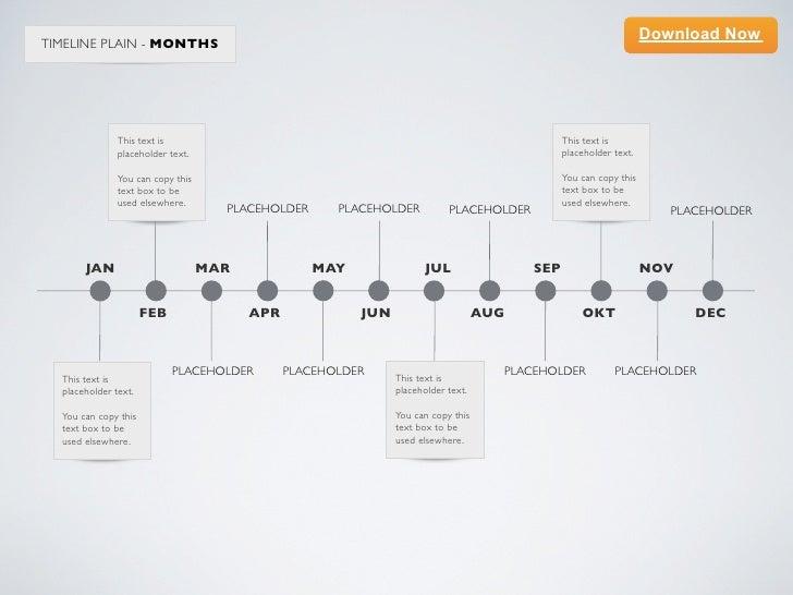 Keynote Template Minimal Timeline Months - Timeline template keynote