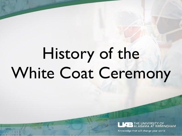 UAB PA Program White Coat Ceremony Keynote Speech