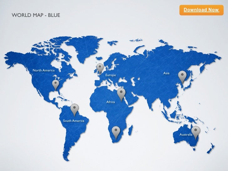 Keynote template world map blue download nowworld map blue north america gumiabroncs Images