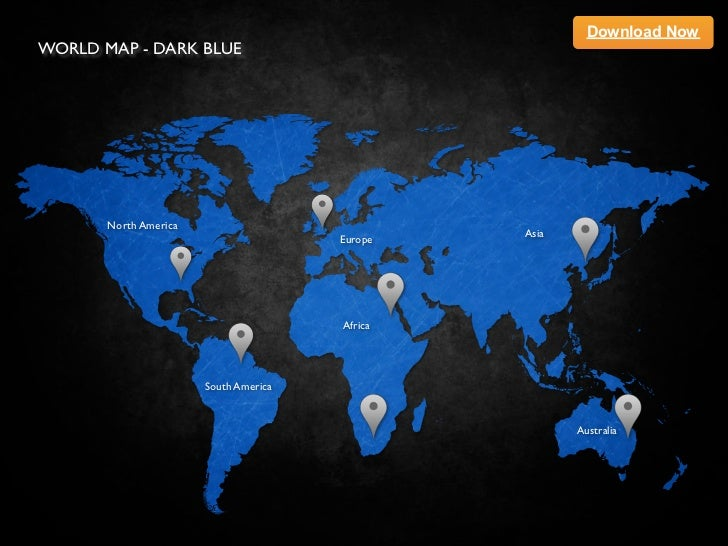 Keynote template world map dark blue download nowworld map dark blue north america gumiabroncs Choice Image