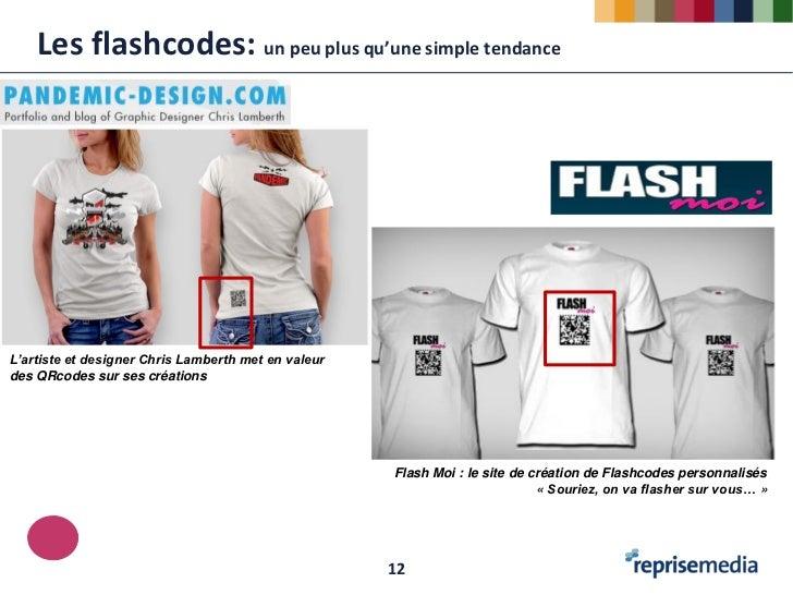 Les flashcodes: un peu plus qu'une simple tendanceL'artiste et designer Chris Lamberth met en valeurdes QRcodes sur ses cr...