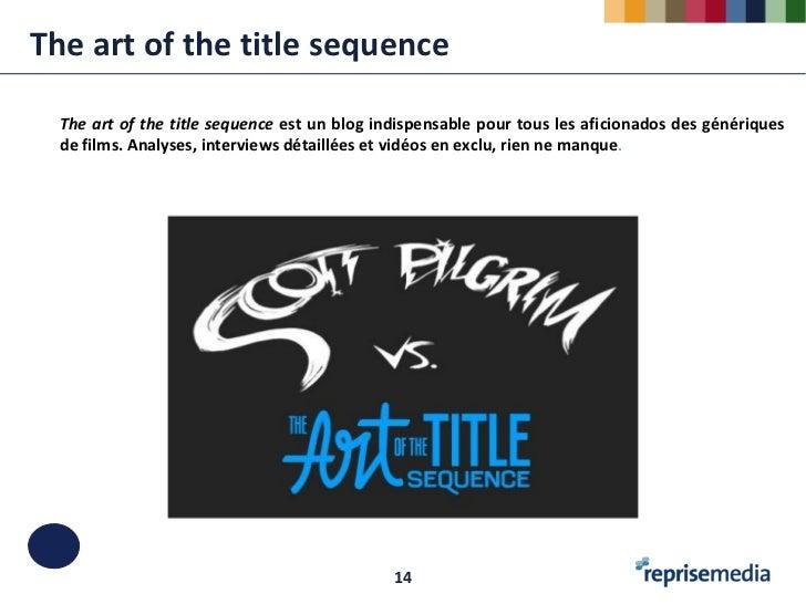 The art of the title sequence  The art of the title sequence est un blog indispensable pour tous les aficionados des génér...