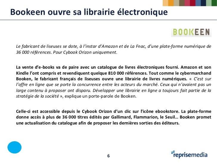 Bookeen ouvre sa librairie électronique Le fabricant de liseuses se dote, à l'instar d'Amazon et de La Fnac, d'une plate-f...