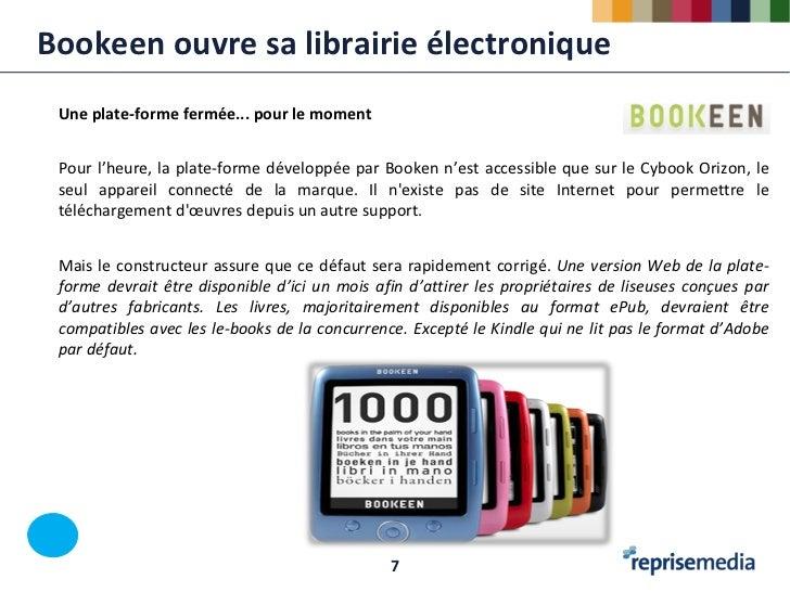 Bookeen ouvre sa librairie électronique Une plate-forme fermée... pour le moment Pour l'heure, la plate-forme développée p...