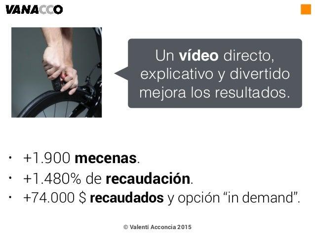 """• +1.900 mecenas. • +1.480% de recaudación. • +74.000 $ recaudados y opción """"in demand"""". Un vídeo directo, explicativo y d..."""