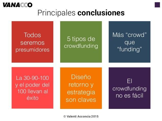 """Todos seremos presumidores 5 tipos de crowdfunding Más """"crowd"""" que """"funding"""" La 30-90-100 y el poder del 100 llevan al éxi..."""
