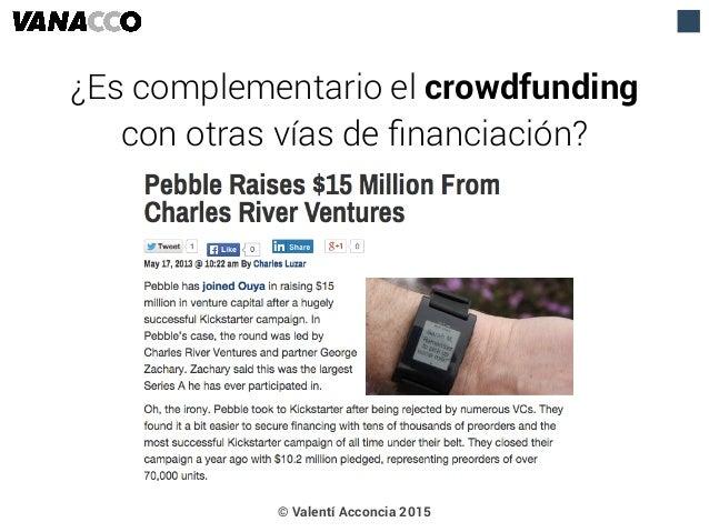 © Valentí Acconcia 2015 ¿Es complementario el crowdfunding con otras vías de financiación?
