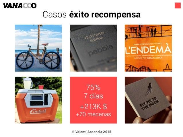 © Valentí Acconcia 2015 75% 7 días +213K $ +70 mecenas Casos éxito recompensa