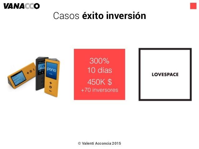 © Valentí Acconcia 2015 300% 10 días 450K $ +70 inversores Casos éxito inversión