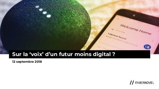 Conférence Paris Retail Week : sur la voix d'un futur moins digital ?