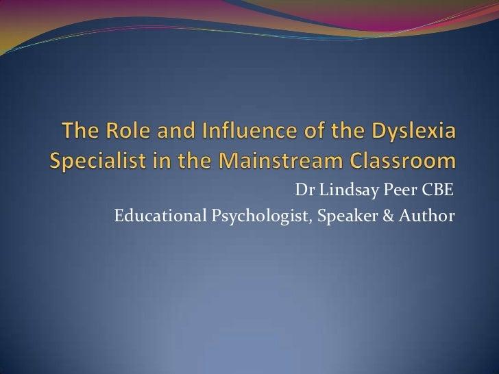 Dr Lindsay Peer CBEEducational Psychologist, Speaker & Author