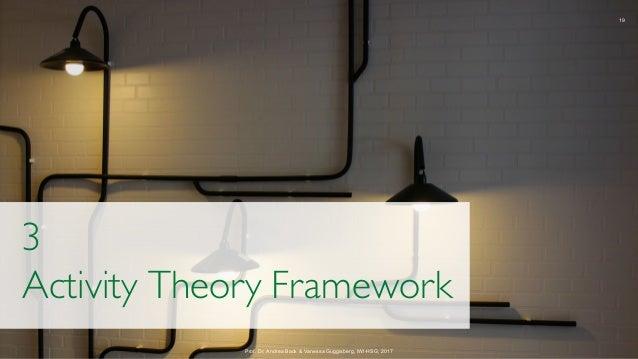 19 Prof. Dr. Andrea Back & Vanessa Guggisberg, IWI-HSG, 2017 3 Activity Theory Framework