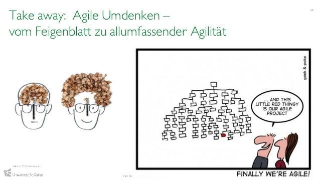 Take away: Agile Umdenken – vom Feigenblatt zu allumfassender Agilität 48 Prof. Dr. Andrea Back & Vanessa Guggisberg, IWI-...