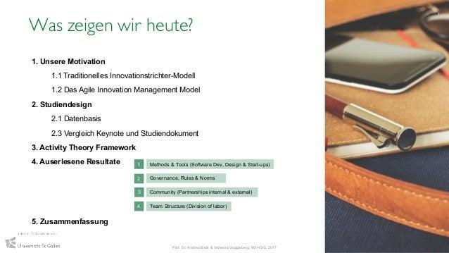 Was zeigen wir heute? 7 Prof. Dr. Andrea Back & Vanessa Guggisberg, IWI-HSG, 2017 1. Unsere Motivation 1.1 Traditionelles ...