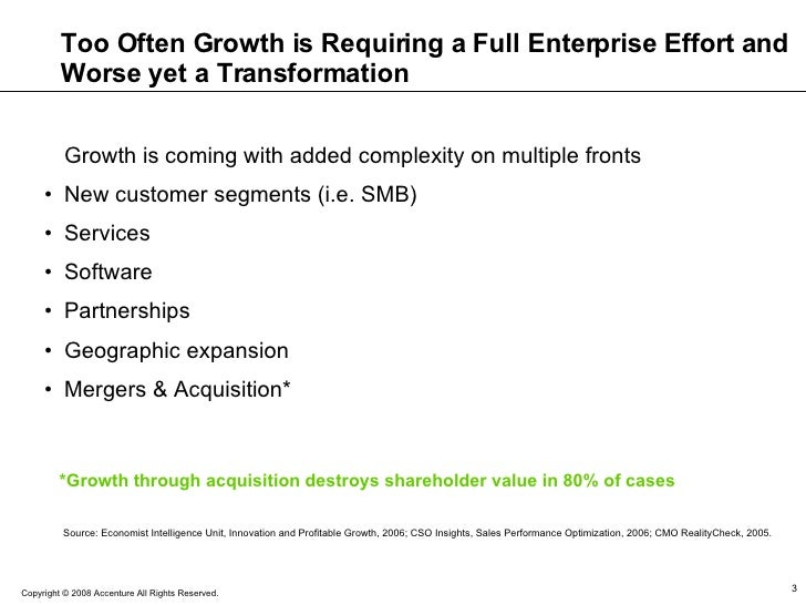 Too Often Growth is Requiring a Full Enterprise Effort and Worse yet a Transformation <ul><li>Growth is coming with added ...