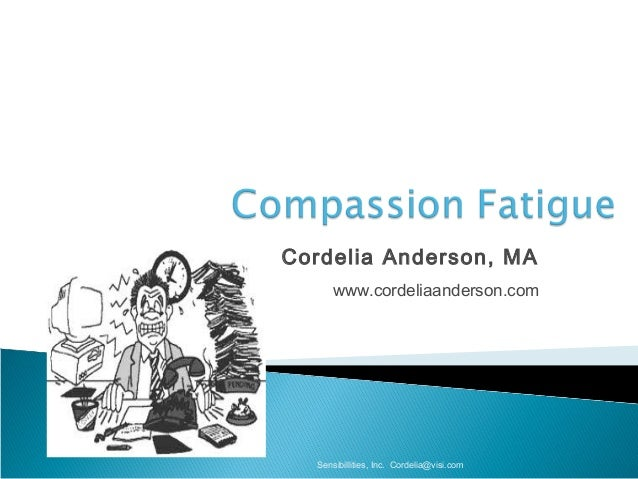Cordelia Anderson, MA www.cordeliaanderson.com Sensibillities, Inc. Cordelia@visi.com