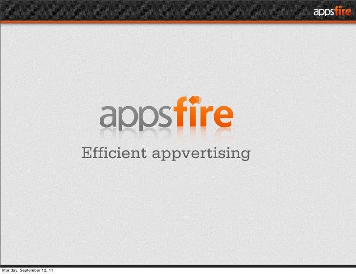 Efficient appvertisingMonday, September 12, 11