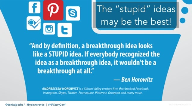"""@denisejacobs / #byeinnercritic 