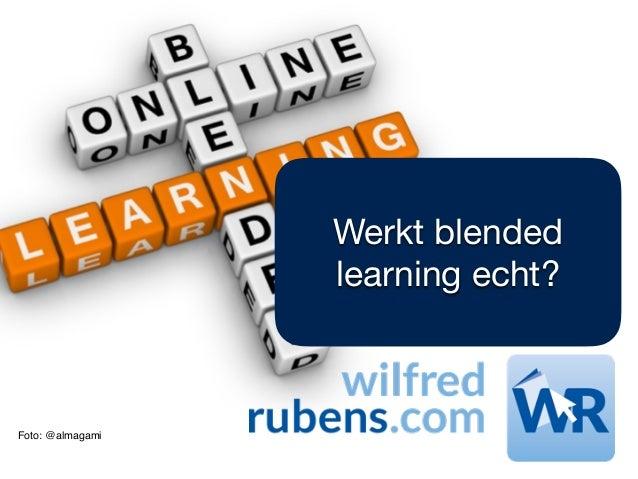 Foto: @almagami Werkt blended learning echt?