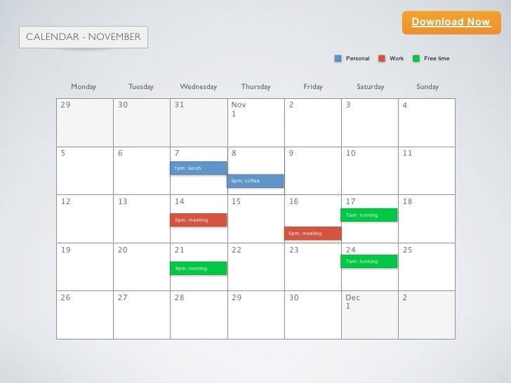 Keynote Calendar Template Choice Image Template Design Free Download