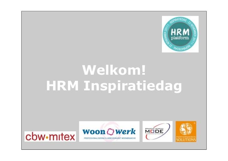 Welkom!HRM Inspiratiedag