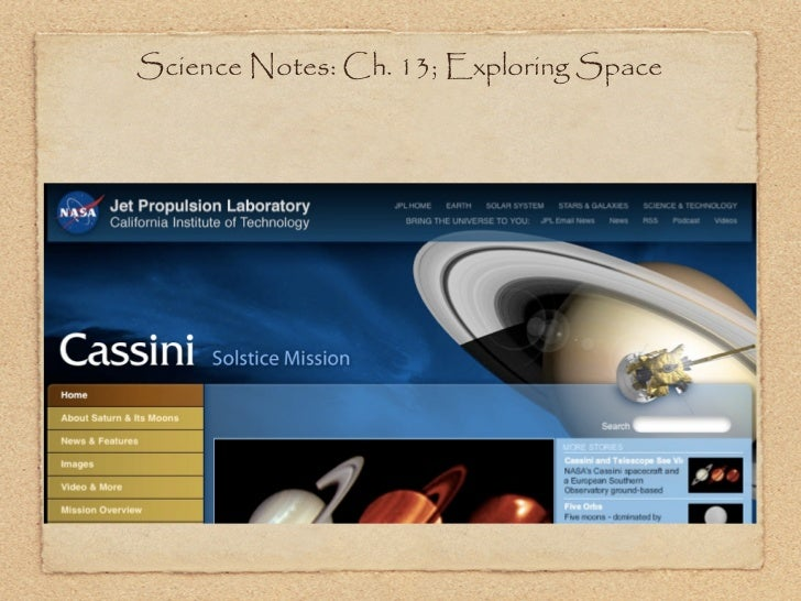 Science Notes: Ch. 13; Exploring Space