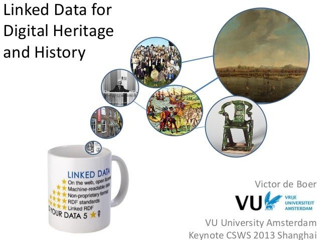 Linked Data for Digital Heritage and History Victor de Boer VU University Amsterdam Keynote CSWS 2013 Shanghai