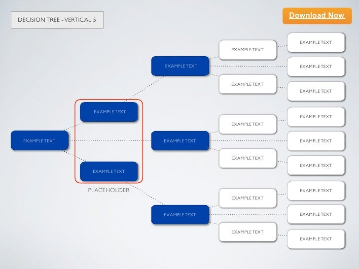 Keynote template Decision Tree Vertical 5 – Decision Tree Template