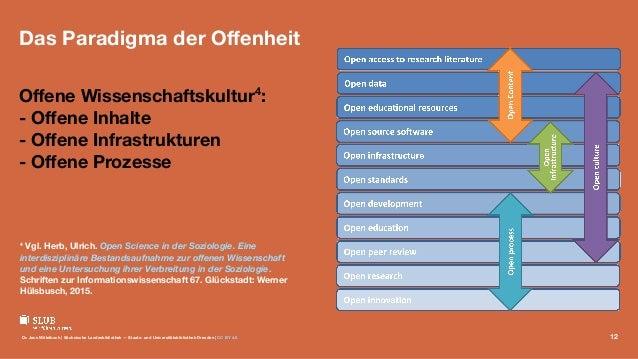 Das Paradigma der Offenheit Offene Wissenschaftskultur4 : - Offene Inhalte - Offene Infrastrukturen - Offene Prozesse 4 Vgl. He...