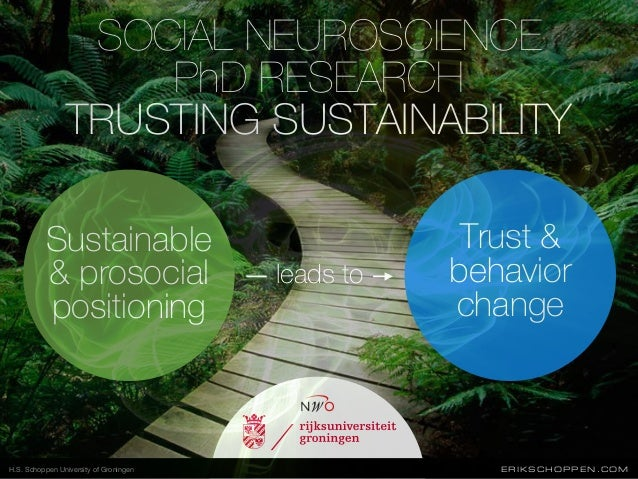 Sustainable & prosocial positioning Trust & behavior change leads to SOCIAL NEUROSCIENCE PhD RESEARCH TRUSTING SUSTAINABIL...
